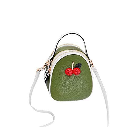 Xiuy Donna Borse Da Lavoro Colore Splicing Borse Spalla Cinghia a Tracolla Borse Messenger Metallo Borse a Mano Personalizzati Borse Shopper Fashion Kawaii Borse Secchiello Classici Classica Green