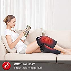 Comfier Heating Pad for Knee Pain-Vibration Massage Knee Brace Wrap, Electric Knee Pads, Heated Knee Braces for Arthritis Join Pain Relief and Support for Women Men