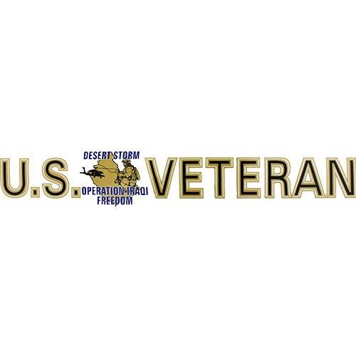 U.S. Veteran Desert Storm/ Iraqi Freedom Clear Window Strip