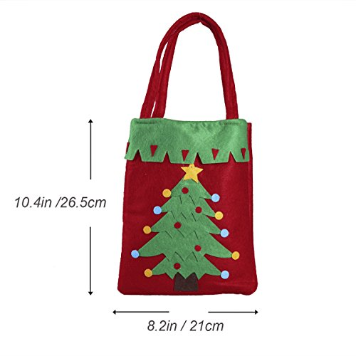 Treat Christmas with Tree for Tote Bags Candy Party Christmas Handle Tinksky Gift Decoration Bag Fabric XpCw8cxdq