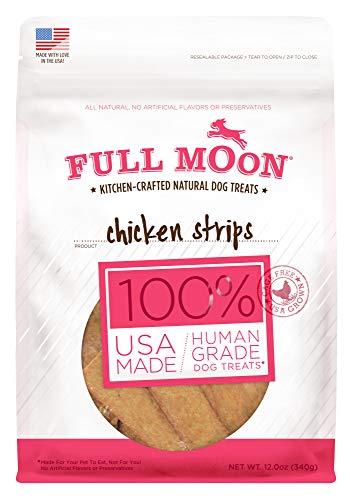 Full Moon All Natural Human Grade Dog Treats, Chicken Strips, 12.5 ()
