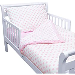 TL Care 100% Cotton Percale Toddler Bed Set, Pink