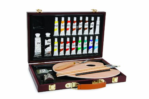 Darice 745566281561 1103-083 Studio 71, 27 Piece Acrylic Painting Set, Wood Box, - Set Painting Masterpiece