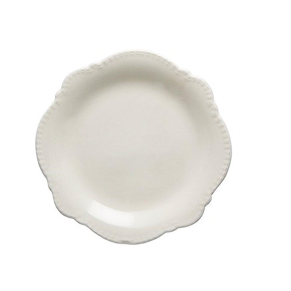 Huayoung Ice Crack Novelty Ceramic Dessert Plates 8-inch Dinnerware Plates (8-inch, White)