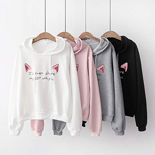 Sweat Sweatshirt Shirt Filles Sweats Chemisier Hiver Streetwear Casual Loose Longues Rose Blouse Imprim Manches Femme Tops Pull Manteau Automne Solike Capuche Imprim OO4Swqrn