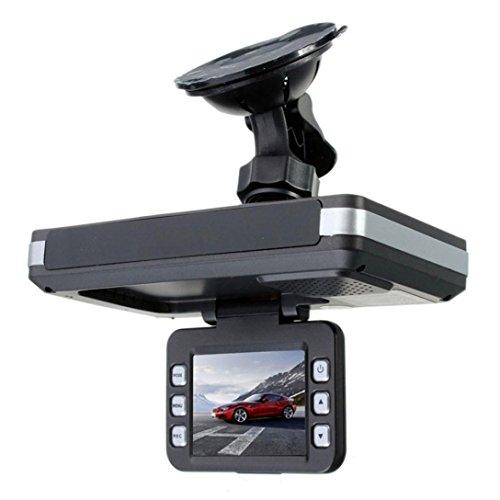 Ikevan Driving Recorder Car DVR, 2 in 1 MFP 5MP Car DVR Recorder + Radar Speed Detector Trafic Alert English (Black) by Ikevan