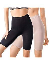 MD Women's Thigh Shapewear High Waist Mid Thigh Shaper Slimmer Power Shorts Small Black/Nude