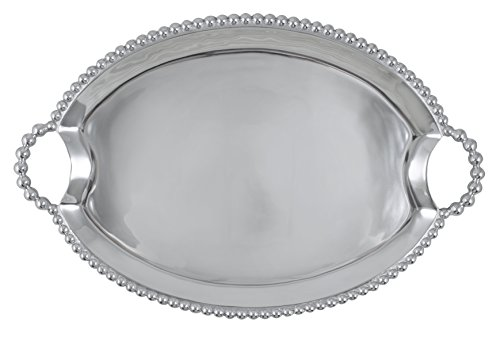 Mariposa 2328 Pearled Oval Handled Tray