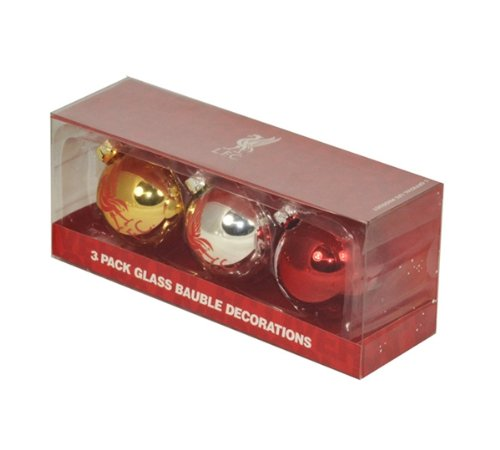 New Official Football Team Round Xmas Tree Baubles (Liverpool FC) Official Football Merchandise