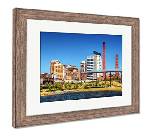 (Ashley Framed Prints Downtown Birmingham, Alabama, Wall Art Home Decoration, Color, 26x30 (Frame Size), Rustic Barn Wood Frame, AG32675399)
