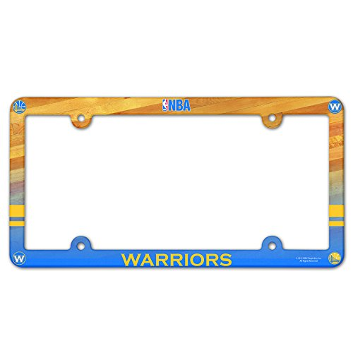 Full Plastic Color Plate License - WinCraft NBA Golden State Warriors Plastic Full Color Style License Plate Frame, One Size, Team Color