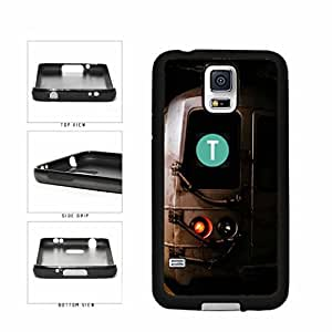 Personalized NYC Train Custom Letter T TPU RUBBER SILICONE Phone Case Back Cover Samsung Galaxy S5 I9600