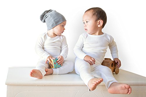 Merino Wool Kid White boy and Girl. Thermal Underwear Base Layer Unisex. Size 6 by Simply Merino (Image #2)