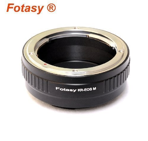 Fotasy Konica AR Lens to Canon EOS M EF-M Mirrorless Camera Adapter, fits Canon M1, M2, M3 M10 Mirrorless Camera (Konica Mount)