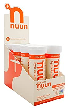 Nuun Immunity Zinc, Turmeric, Elderberry, Ginger, Echinacea, and Electrolytes for an Anti-Inflammatory and Antioxidant Boost in Immune Support and Hydration, Orange Citrus 8-Pack