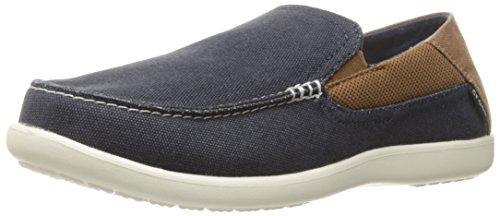 Crocs Men's Santa Cruz 2 Luxe M Slip-On Loafer, Navy/Hazelnut, 9 D(M) US