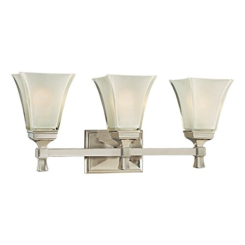 - Hudson Valley Lighting 1173-SN Three Light Bath Bracket from the Kirkland collection 3, Satin Nickel
