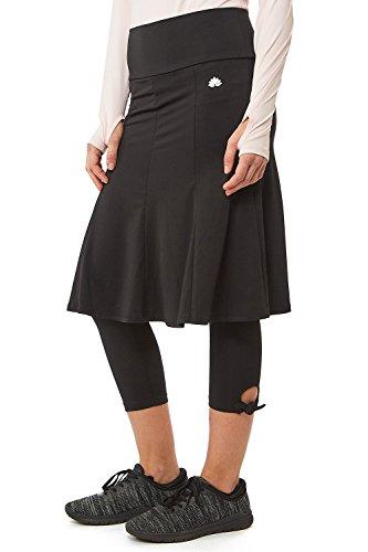 Snoga Athletics Swing Skirt with Side Tie Capri Leggings - Black, X-Large