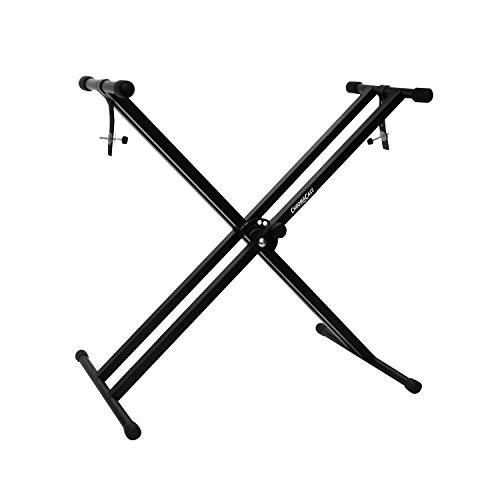 (ChromaCast CC-KSTAND Double Braced X-Style Pro Series Keyboard Stand with Locking Straps)