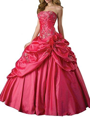 - Dearta Women's Ball Gown Strapless Quinceanera Dresses US 6 Peachy