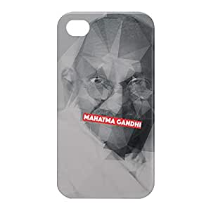 Loud Universe Apple iPhone 4/4s 3D Wrap Around Mahatma Gandhi Print Cover - Multi Color
