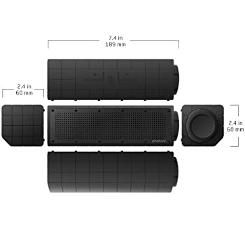 Photive Hydra Portable Bluetooth Speaker With Enhanced Bass. Waterproof Rugged Portable Speaker For Home, Travel & Outdoors 8