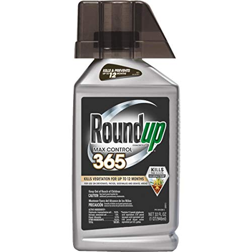 Roundup Max Control 365 Concentrate, 32-Ounce (Weed Killer Plus Weed Preventer) (Not Sold in NY)