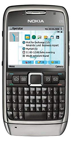 E71 HMD-N o k i a QWERTY keypad Symbian Smartphone - Black