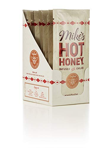Mike's Hot Honey 0.75 oz Squeeze Pack (12 Pack Box) | Spicy & Sweet | Sustainably Sourced USA Honey | Paleo & Gluten-Free | Perfect on Pizza, BBQ, Veggies, & More! - Habanero Mustard Honey