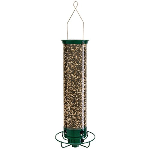 Droll Yankees Yankee Flipper Squirrel-Proof Bird Feeder, 21 Inches, 4 Ports, Forest Green ()
