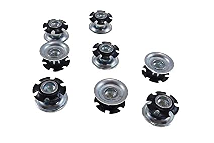1//4-20 Thread Oajen Metal Threaded Star Type Insert Adapter for 3//4 OD Round tubing Pack of 20