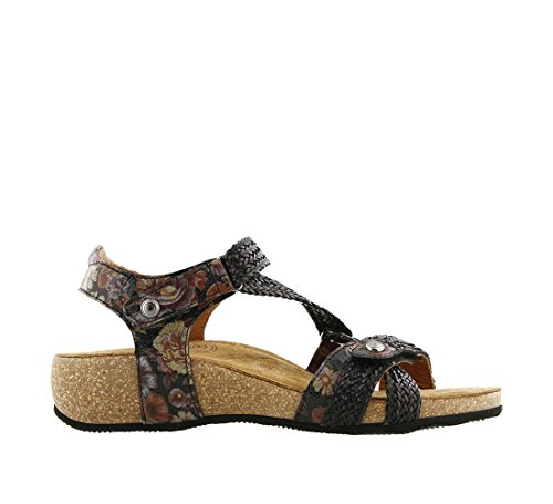 Taos Kvinders Trulie Kile Sandal Sort Blomstret Multi nVnOuFTF6r