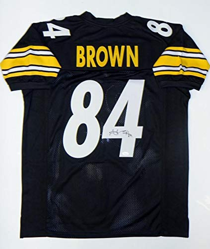 Image Unavailable. Image not available for. Color  Antonio Brown Signed  Black Pro Style Jersey ... 67c03bd69