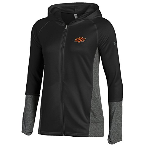 Under Armour NCAA Oklahoma State Cowboys Adult Women Women's French Terry Full-Zip, Medium, Black - Oklahoma State Cowboys Gear