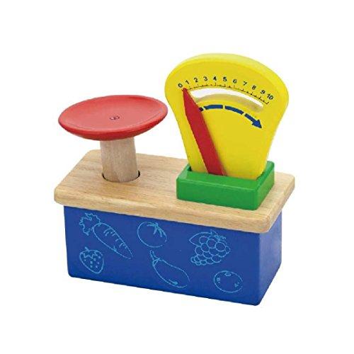Wooden Weighing Balance Scale - Pretend Children Play Kitchen Game -