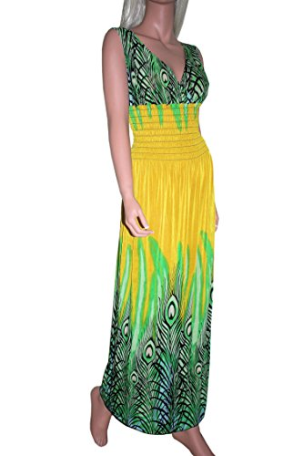 Raivar - Vestido - Sin mangas - para mujer amarillo