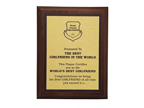 aahs!! Engraving Worlds Greatest Plaques (Best Girlfriend in The World, Gold)