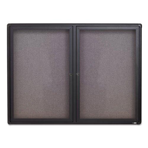 Quartet 2364L Bulletin Board,Fabric,2 Door, 4-Ft x3-Ft, Graphite Frame