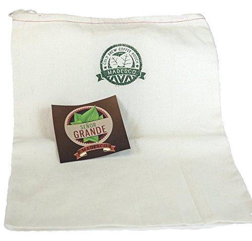 5-Gallon-sized Madesco''Senior Grande'' Cold Brew Coffee Filter Restaurant Grade (bucket/dispenser not included) by Madesco