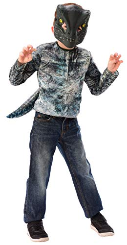 Imagine by Rubie's G34371_OS Boys Blue Velociraptor Dress-up Set Costume, Small