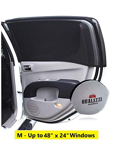 M/Car Window Shade Protection for Baby. Backseat Sun Shades Cover Full Windows Up to 38 x 20 in, 2-Pack.