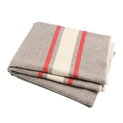 Winthome Luxury Extra Soft Wool Blanket Throw, Suitable for Sofa,Chair or Bed,51inch x 66.5inch (Throw Wool Blankets)