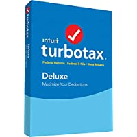 TurboTax Deluxe + State 2018 Tax Software [PC/Mac Disc]