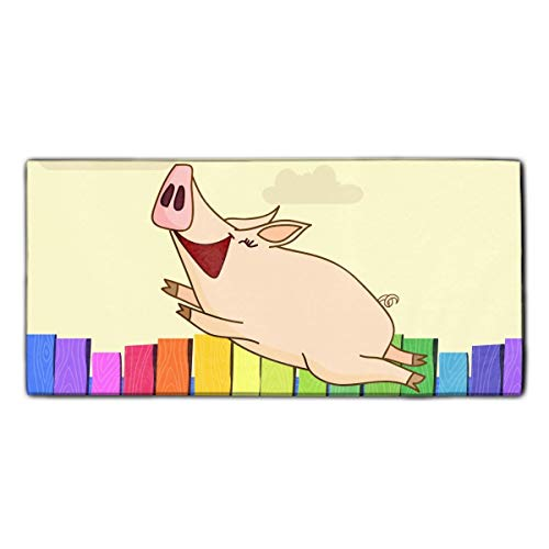 Joyful Pig Dish Towels, 11.8 × 27.5 Inches, Heavy Duty Kitchen Bar Towel for Drying & ()