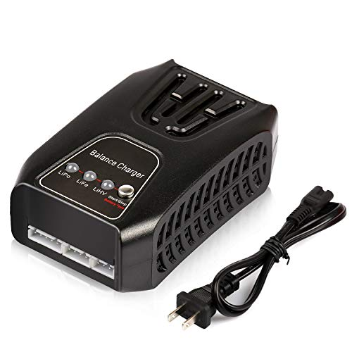 Lipo Battery Charger - Energy tech Balance Charger AC/DC 20W 2A 2-4Cells for LiPo/Life/LiHV Airsoft RC Car Battery Charging
