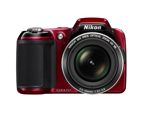 Nikon COOLPIX L810 16.1 MP Digital Camera with 26x Zoom NIKKOR ED Glass Lens and 3-inch LCD (Red) (OLD MODEL)