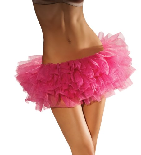 [Secret Wishes Short Hot Tutu, Hot Pink, One Size] (Pink Sexy Costumes)