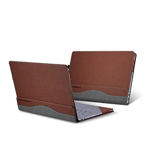 Honeycase Compatible with Surface Laptop 2/1 13.5 inch Case,PU Leather Folio Stand Protective Hard Shell Case Type Keyboard Cover Compatible 2018 New Microsoft Surface Laptop 2/1 13'',Brown by Honeycase (Image #1)
