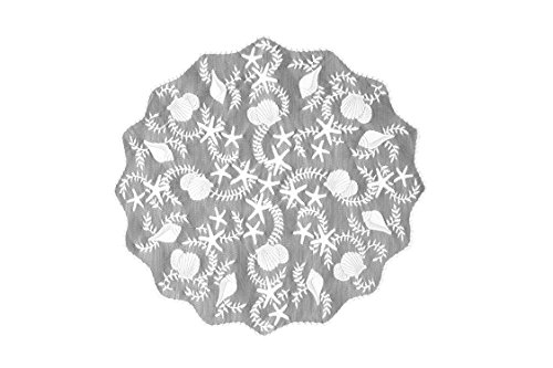 Heritage Lace Tidepool Round Table Topper, 42-Inch, White by Heritage Lace