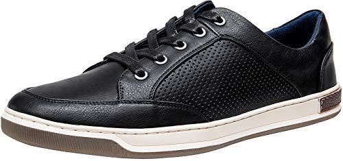 JOUSEN Men's Fashion Sneakers Lightweight Casual Shoes Business Dress Sneaker (9,Black)